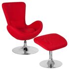Palisades Guest Chair with Ottoman Seat Color: Red