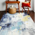 Heilman Ivory/Blue Area Rug Rug Size: Rectangle 8'6