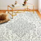 Clarkshire Hand-Tufted Wool Ivory/Gray Area Rug Rug Size: Rectangle 8'6
