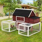 Garnett Modular Wooden Backyard Chicken Coop with Nesting Box and Dual Outdoor Runs