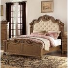 Vilmos Upholstered Panel Bed Size: Queen, Color: Medium Brown