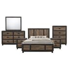 Llewellyn Panel 6 Piece Bedroom Set Size: Queen