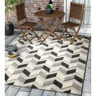 Dorado Bela Modern Geometric/Chevron High-Low Gray Indoor/Outdoor Area Rug Rug Size: Rectangle 7'10