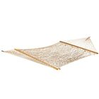 Roe Double Cotton Rope Hammock Color: White