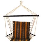 Godfrey Fabric Chair Hammock Color: Brown/Orange
