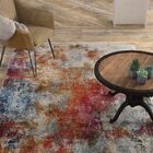 Mcmeans Red/Blue Area Rug Rug Size: Rectangle 3' x 5'