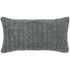 Clio Knitted Linen Throw Pillow Color: Gray