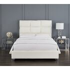 Dubose Upholstered Platform Bed Color: White, Size: Queen
