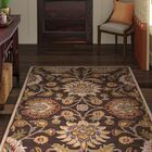 Topaz Hand-Tufted Wool Dark Brown Area Rug Rug Size: Square 9'9
