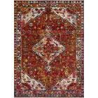 Silvia Red Area Rug Rug Size: Rectangle 3'11