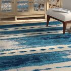 Redus Abstract Brush Strokes Blue Area Rug Rug Size: Rectangle 7'10'' x 10'6