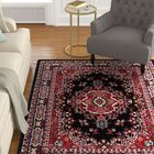 Lilly Black Area Rug Rug Size: 9'2
