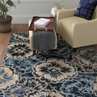 Amy Blue/Beige Area Rug Rug Size: Rectangle 3'11
