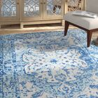 Almonte Aqua/White Area Rug Rug Size: Rectangle 5'3