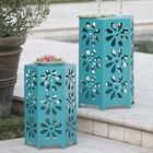 Antwon Side Table Color: Teal