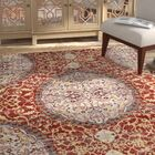 Chani Distressed Red/Orange Area Rug Rug Size: Rectangle 3'11