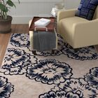 Amy Ivory/Blue Area Rug Rug Size: Runner 2'2