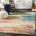 Berry Abstract Yellow/Blue Area Rug Rug Size: Rectangle 7'10