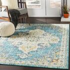 Berry Blue/Beige Area Rug Rug Size: Rectangle 6'7