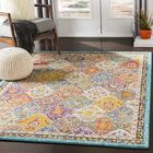 Berry Medallion Yellow/Blue Area Rug Rug Size: Rectangle 5'3