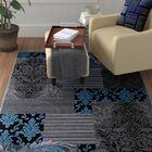 Butler High-Quality Assorted Floral Blue Area Rug Rug Size: Rectangle 5' x 6'11