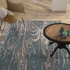 Fidela Abstract Hand Tufted Wool Teal/Dark Brown Area Rug Rug Size: Rectangle 5' x 8'