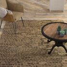 Burcet Hand-Knotted Latte Area Rug Rug Size: Rectangle 8'6