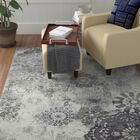 Holmstrom Distressed Floral Gray Area Rug Rug Size: Rectangle 5'3
