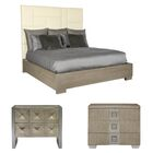 Mosaic Upholstered Panel Configurable Bedroom Set