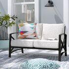 Freitag Loveseat with Cushions Cushion Color: Oatmeal