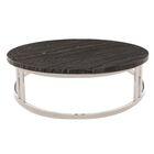 Noriega Coffee Table Table Top Color: Black, Table Base Color: Silver