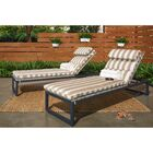 Gary Reclining Chaise Lounge with Cushion Frame Color: Gray