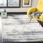 Bateman Light Gray/Black Area Rug Rug Size: Rectangle 9' x 12'