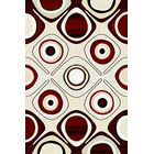 Mccampbell 3D Red/Beige Area Rug Rug Size: Rectangle 5'2