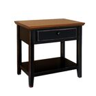 Aahil Deluxe Drawer Shelf End Table Table Base Color: Black