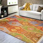 Shipley Harvest Brown/Green Area Rug with Fringe Rug Size: Rectangle 7' x 10'