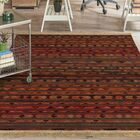 Jeffrey Brown Area Rug with Fringe Rug Size: Rectangle 5' x 8'