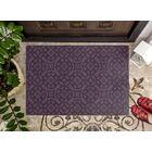 Messer Royal Trellis Purple Area Rug Rug Size: Rectangle 7'6