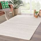 Draper Hand-Knotted Ivory Area Rug Rug Size: Rectangle 7'9