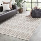 Fielding Hand-Knotted Wool Ivory/Gray Area Rug Rug Size: Rectangle 2' x 3'