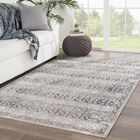 Dooley Gray/Brown Indoor/Outdoor Area Rug Rug Size: Rectangle 5' x 7'6