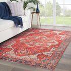 Farragut Red/Beige Indoor/Outdoor Area Rug Rug Size: Rectangle 5' x 7'6