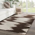 Page Hand-Knotted Wool Dark Brown/Beige Area Rug Rug Size: Rectangle 5' x 8'