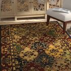 Moss Hand Tufted Wool Red/Yellow Area Rug Rug Size: Square 6'