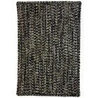 One-of-a-Kind Aukerman Hand-Braided Black Indoor/Outdoor Area Rug Rug Size: Rectangle 8' x 11'