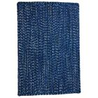 One-of-a-Kind Aukerman Hand-Braided Blue Indoor/Outdoor Area Rug Rug Size: Square 5'6