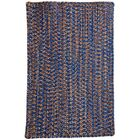 One-of-a-Kind Aukerman Hand-Braided Blue/Orange Indoor/Outdoor Area Rug Rug Size: Rectangle 2'3