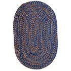 One-of-a-Kind Aukerman Hand-Braided Blue/Orange Indoor/Outdoor Area Rug Rug Size: Oval 8' x 11'