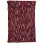 One-of-a-Kind Aukerman Hand-Braided Red/Navy Indoor/Outdoor Area Rug Rug Size: Rectangle 2'3