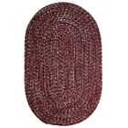 One-of-a-Kind Aukerman Hand-Braided Red/Gray Indoor/Outdoor Area Rug Rug Size: Oval 2' x 8'